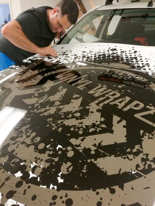 Mitsubishi Triton Commercial Wrap Vinyl Wrap Car