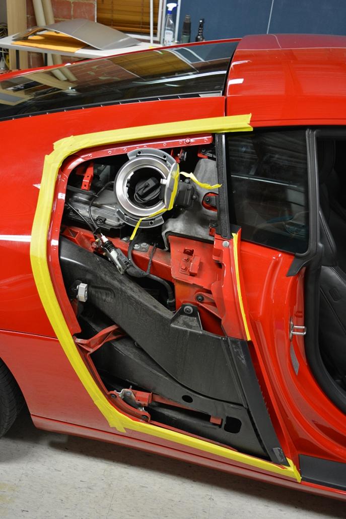 Audi R8 Carbon Side Blades Vinyl Wrap Car Wrap