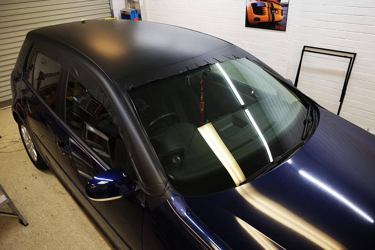 VW Golf - Sun damage roof and bonnet repair wrap - Vinyl